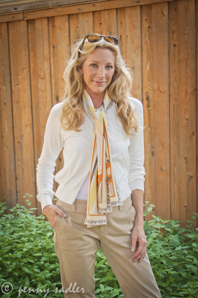 Layered look with scarf @PennySadler