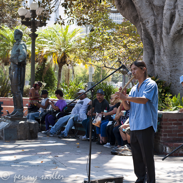 musician in the Plaza at Olvera Street Los Angeles