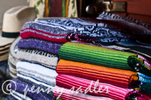mexican blankets olvera street ©pennysadler 2012