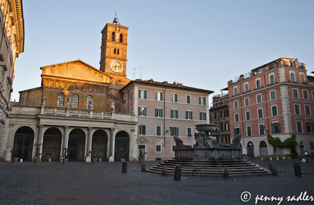 Church of Santa Maria in Trastevere, @PennySadler 2013