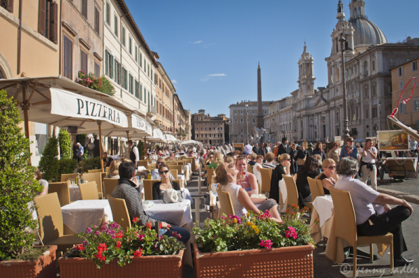 Piazza Navona, Rome, Italy @PennySadler 2013