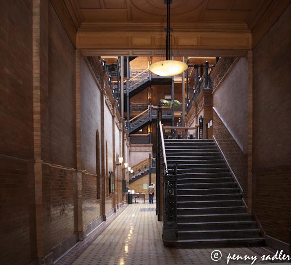 the Bradbury building LA