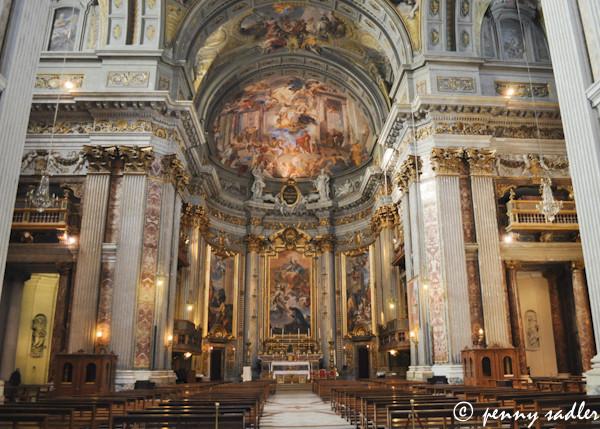 Chiesa St. Ignazio, Roma, Italia @PennySadler 2013