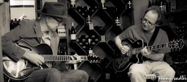 Jason Bucklin and Terry Hankins on guitar Chocolate Secrets @PennySadler 2013