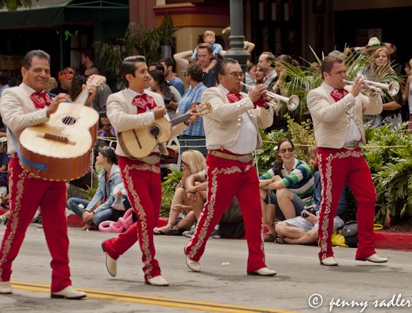 Mariachis in the Fiesta Santa Barbara, parade, @PennySadler 2013