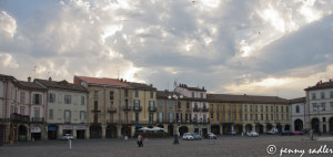 The Colors of Voghera Italy piazza