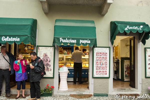 gelateria, San Giulio di Orta, Lake Orta, Italy @PennySadler 2013