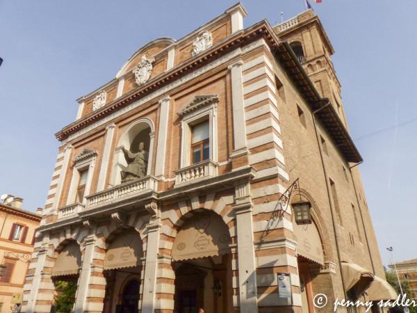 A walk around Cesena, Italy, palazzo ridotto, @PennySadler 2013