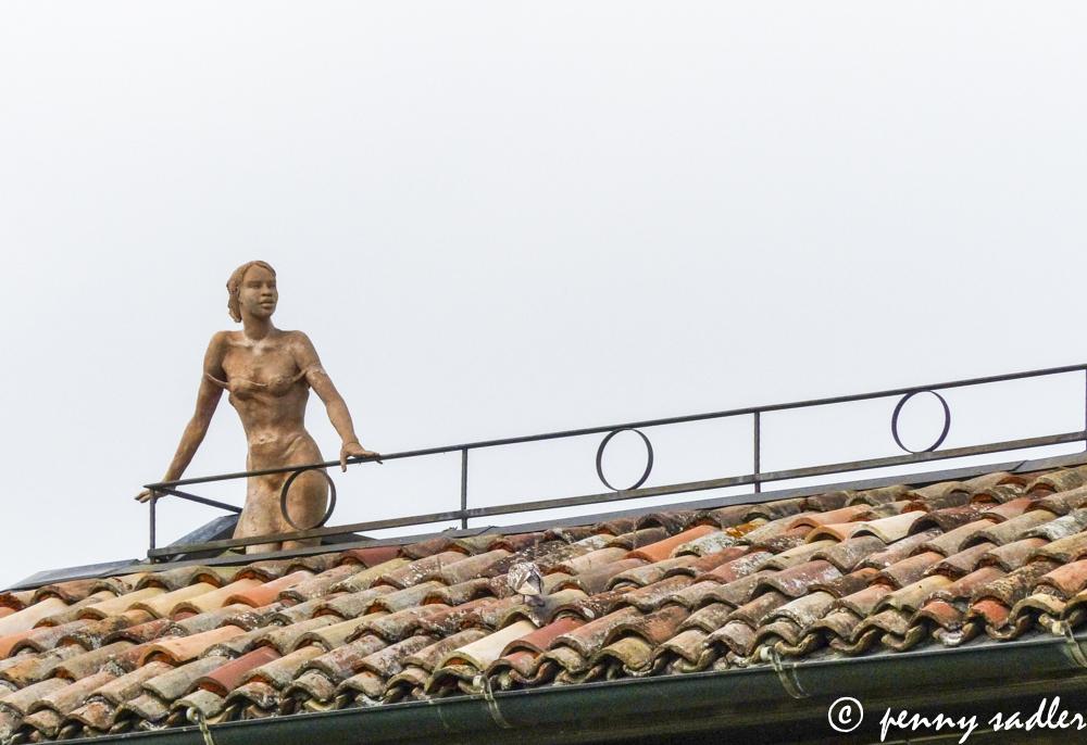 Woman on Balcony Sculpture Cesena Italy A Walk Around Cesena @PennySadler 2013