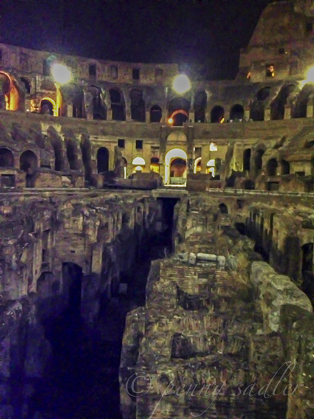 Walks of Italy VIP night tour Colosseum, @PennySadler 2013
