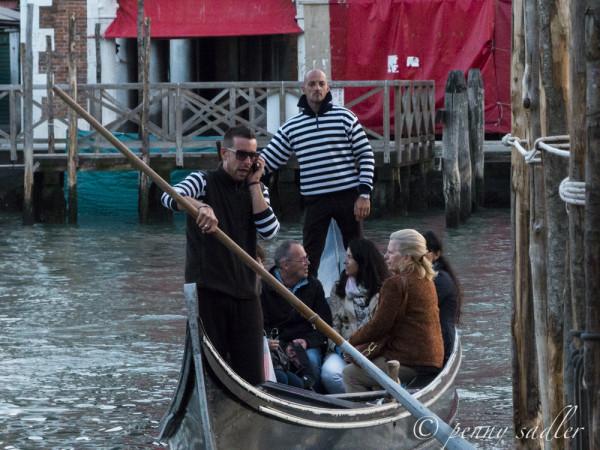 gondolieri on the Grand Canal Venice @PennySadler 2013
