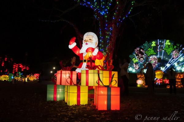 Santa lantern, @PennySadler 2013
