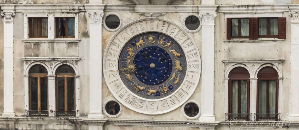 The zodiac clock in Piazza San Marco, Venice @PennySadler 2013