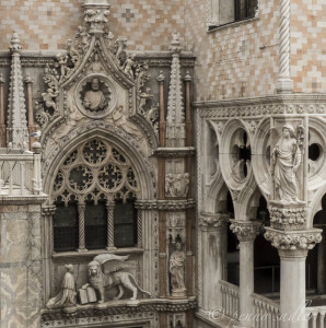 architectural detail Doge's Palace Venice and the east @PennySadler 2013