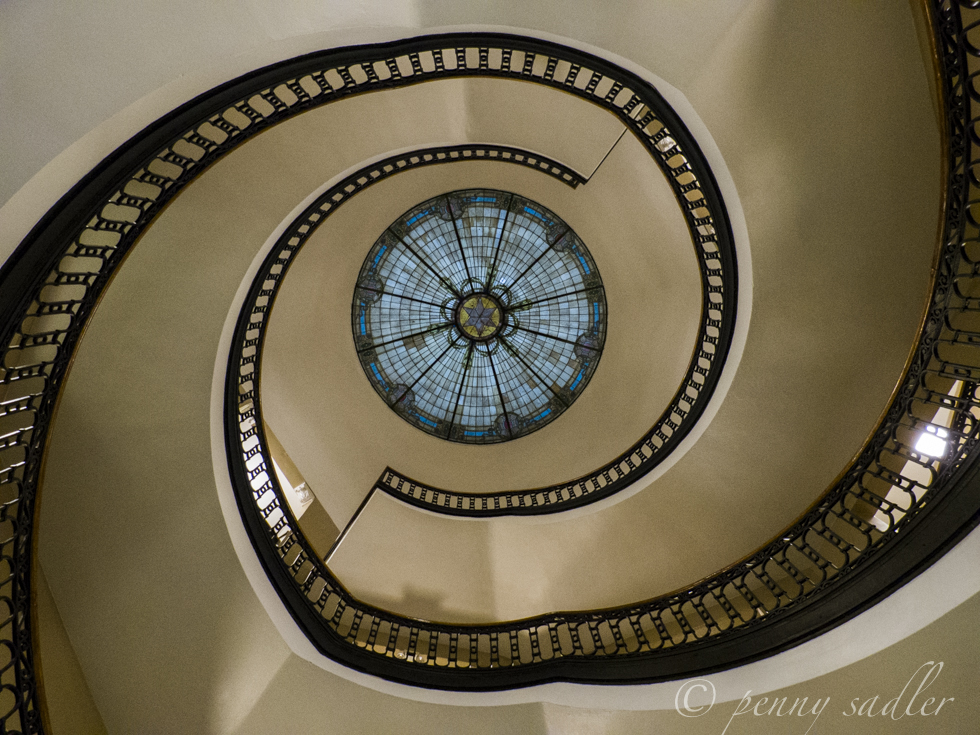 stairway anderson county courthouse @PennySadler 2013