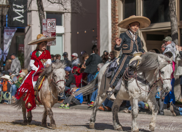 cute little boy and girl riding ponies in the Ft.Worth sotck how rodea and parade. @PennySadler 2014