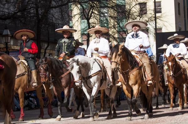 Mexican cowboys in the FTWorth SSR parade. @PennySadler 2014