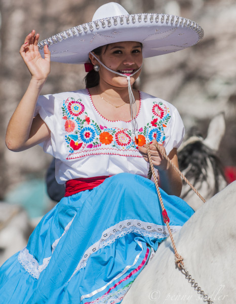 Lady on a horse in the parade Ft.Worth, Texas @PennySadler 2014