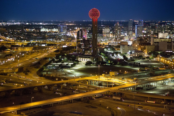 Visiting Reunion Tower, Dallas, Texas