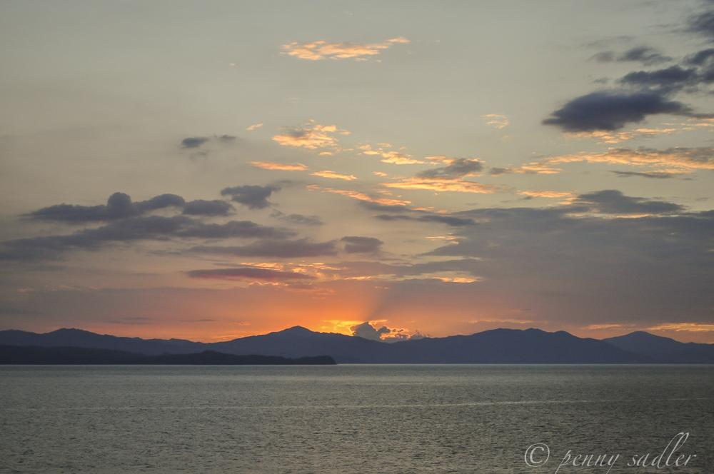 Sunset at Sea @PennySadler 2014