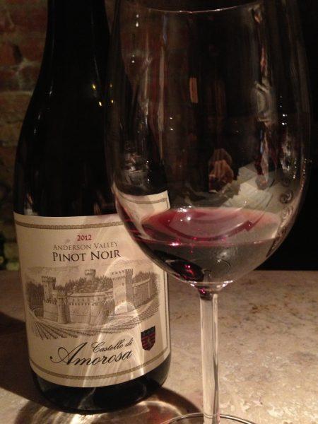 Wine glass castello di amorosa @PennySadler 2014