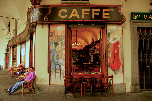 A pretty cafe from, A chocolate love affair, Turin italy
