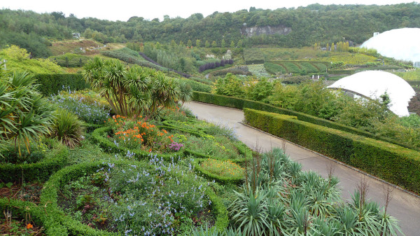 Gardens at the Eden Project, Polperro, Cornwall