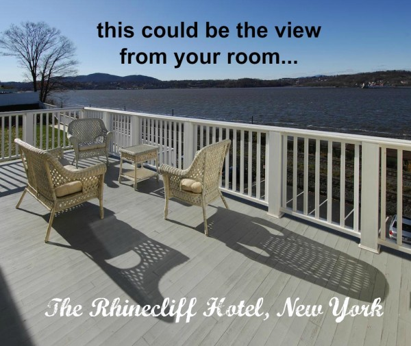 The rhinecliff, rooms with view on the Hudson River, New York