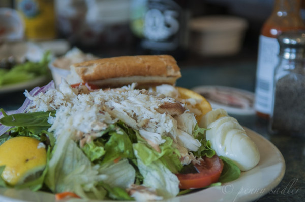 Crab Louie Salad at Phil's Fish Market, Montery Bay, from, Why is Phil's Fish Market So Popular