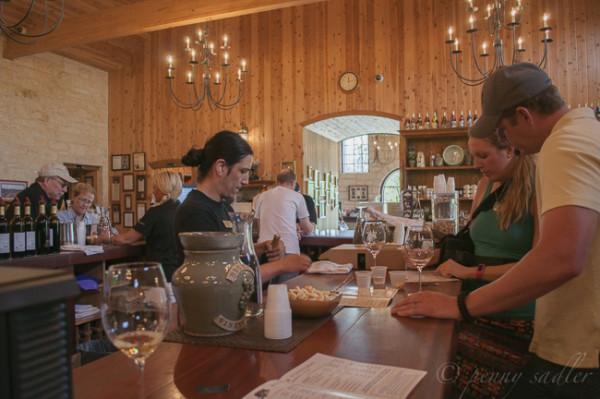 The tasting room at Becker Vineyards @PennySadler 2015