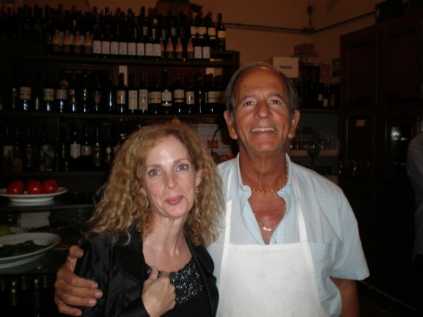 """Blondie""about the Roman Trattoria owner. from Adventures of a Carryon a travel and lifestyle blog"