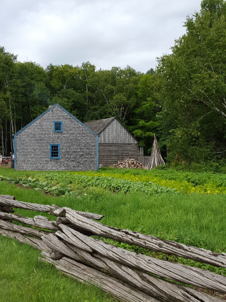 Historic house and barn (1860) at Village Historique Acadien