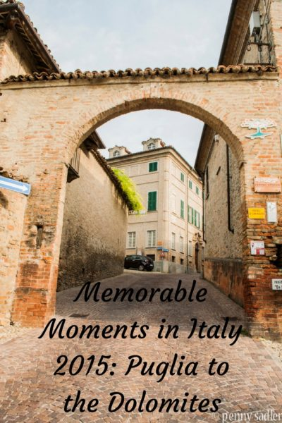 Memorable Moments in Italy