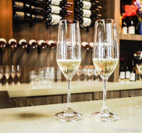 wine tasting, Santa Barbara, champagne at Riverbench