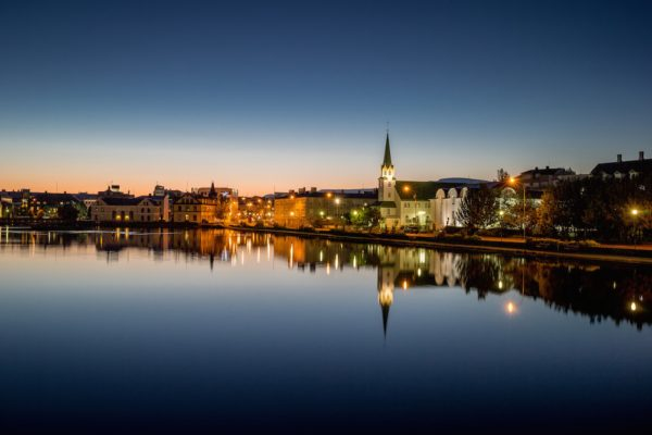 Reykjavik at night - why travel solo to Iceland