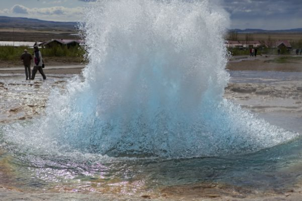 Strokkur waterspout at Geysir, Iceland