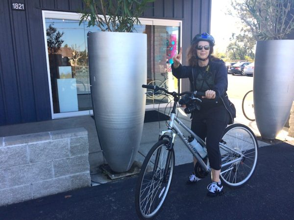 cycling to explore downtown Napa