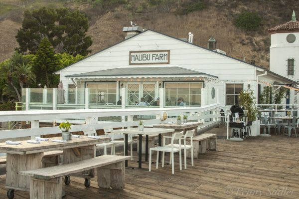 Al fresco dining on Malibu Pier.