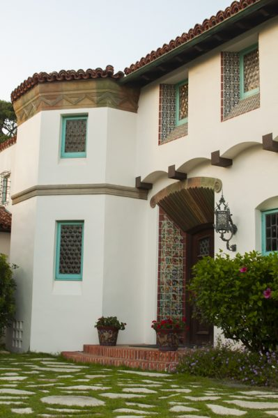Spanish Revival and Malibu Tile details at Adamson House. From How To Enjoy Malibu: Money Optional