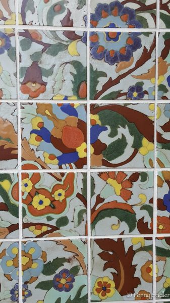 Tile work at Adamson House, Malibu, California