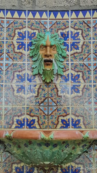 Gorgeous tiled fountain at Adamson House. From How To enjoy Malibu, California