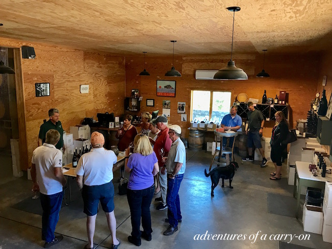 informal atmosphere at Vincent Arroyo Winery