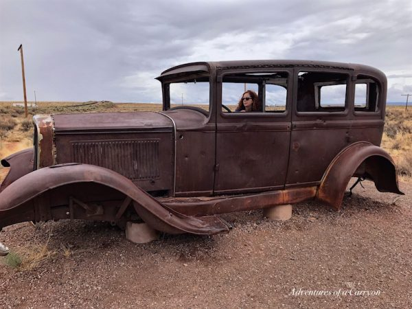 Abandoned car in the Arizona desert
