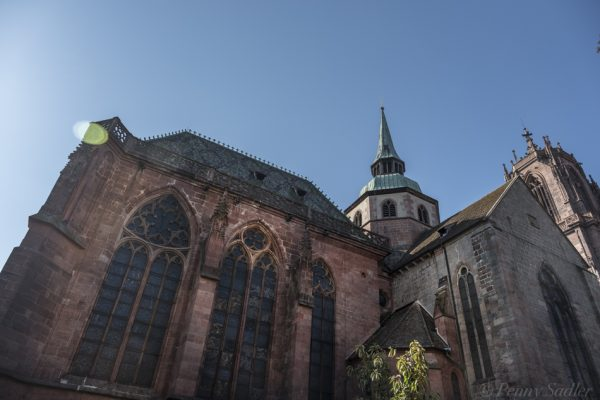 Exterior St Georges Cathedral, Selestat, Alsace