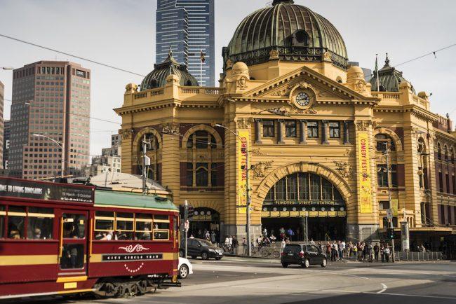 Flinders Street Railway Station, Melbourne wine tasting