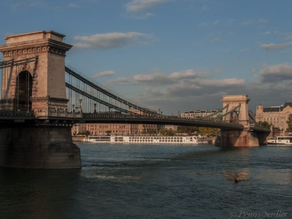 iconic chain bridge Budapest, Hungary