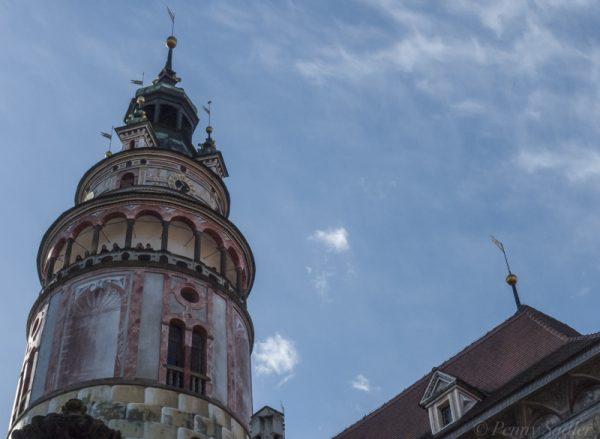 castle tower, Cesky Krumlov, Danube Waltz cruise