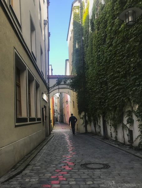 alley in Passau, Germany