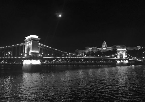 Széchenyi Bridge, at night Budapest from How to make the most of a Viking Cruise ©PennySadler 2020